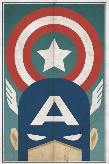 Vintage style superhero posters by michael myers - Poster super heros ...