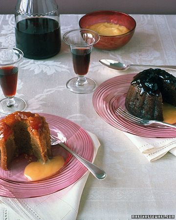 Individual Fig or Apricot Steamed Puddings - Martha Stewart Recipes