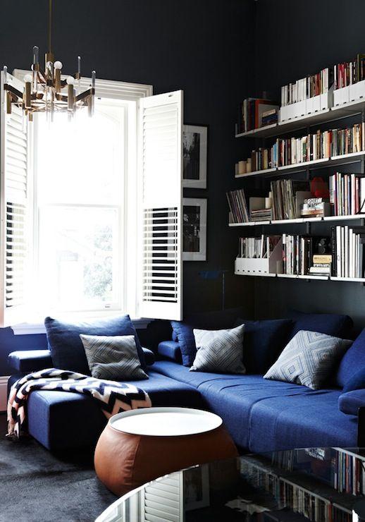 living room navy blue midnight blue pinterest