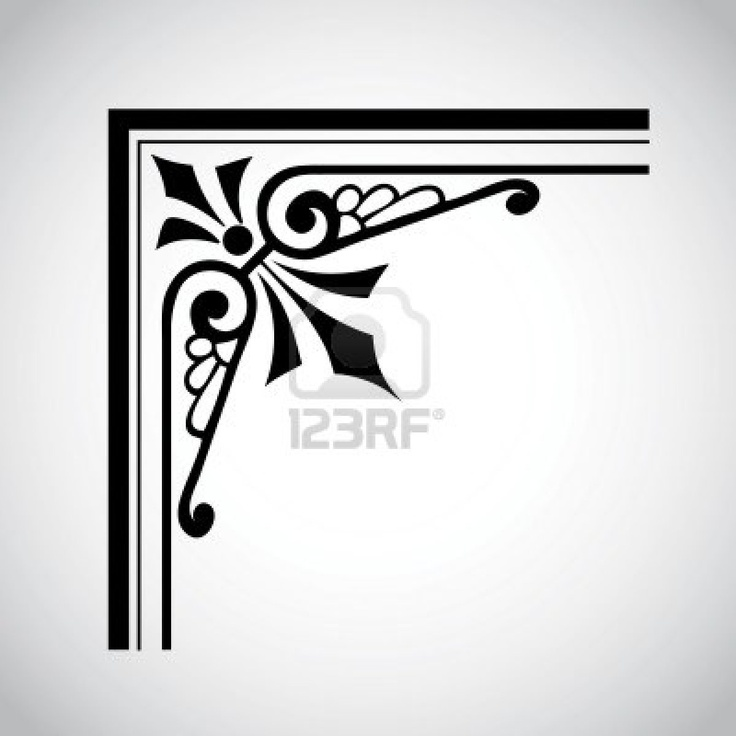 Decorative Designs Clip Art Decorative Corner Clip Art