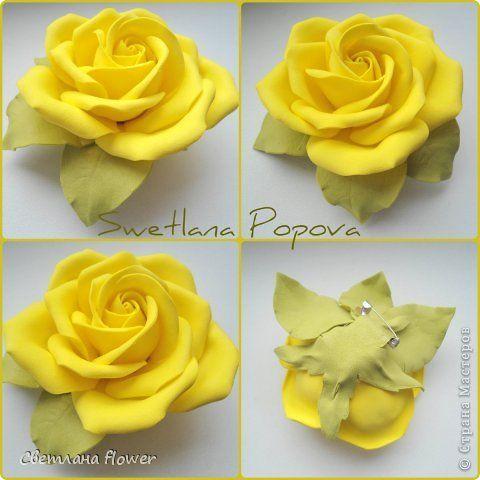 Фоамиран как сделать розы