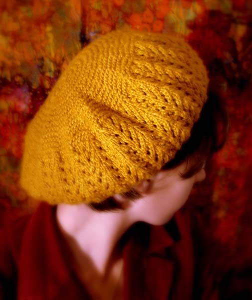 Free Knitting Patterns Berets Easy : February Beret Pattern