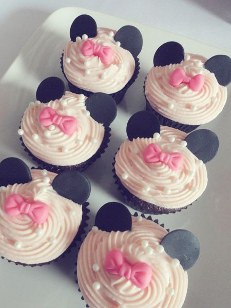 minnie mouse baby shower cupcakes | minnie mouse baby ...