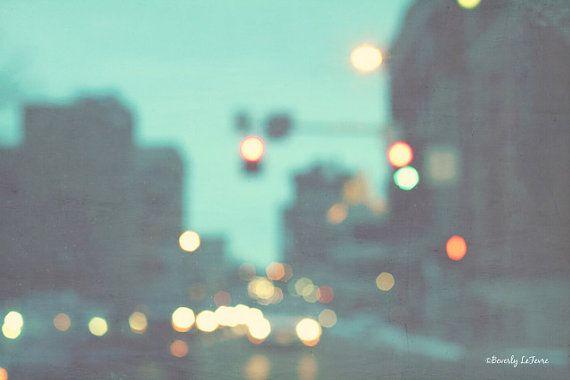 city lights bokeh blur fine art photography by Beverly LeFevre