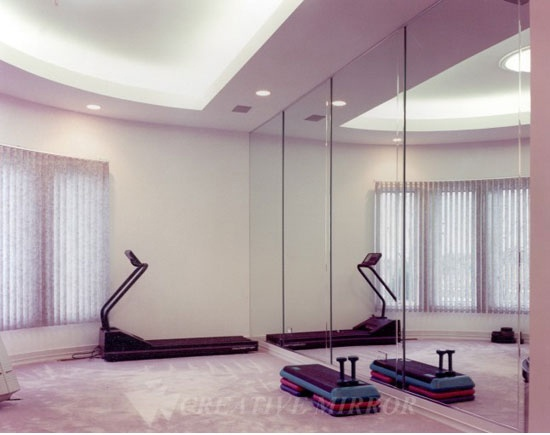 Exercise Room Mirrors Free Quote Basement Pinterest