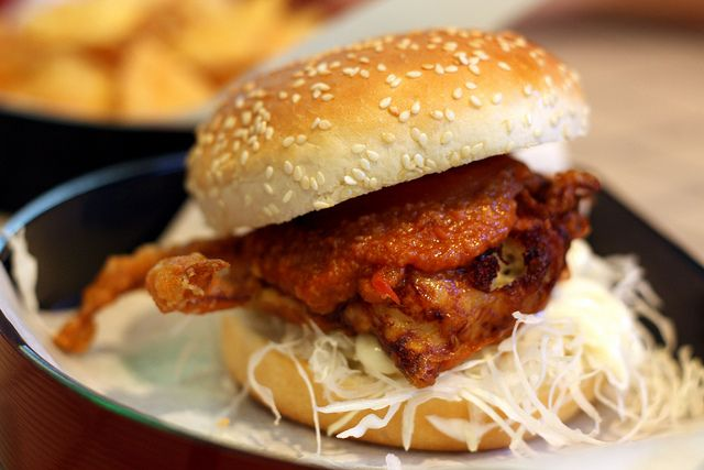Soft-shell Chilli Crab Burger | Burger Bonanza | Pinterest