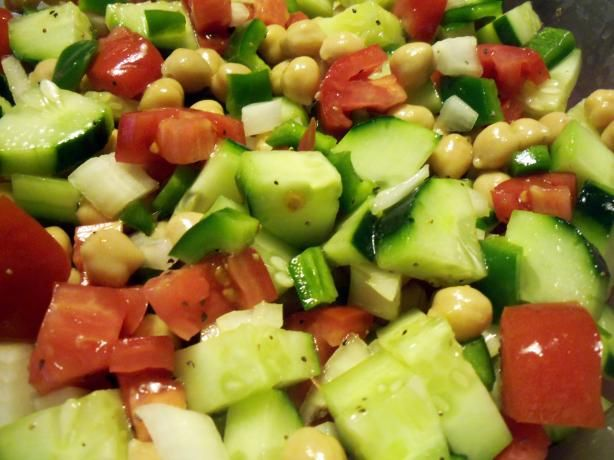 Israeli Salad + Pita Chips Recipes — Dishmaps