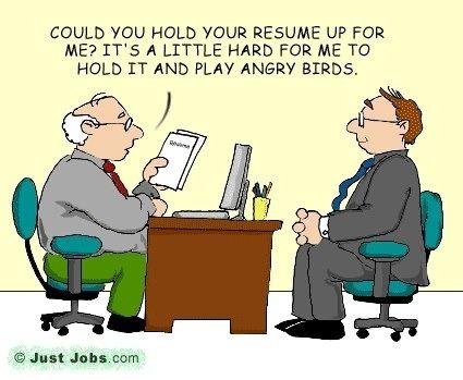 Job humor funny recruitment and interview cartoons for Bureau humour