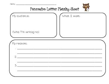 persuasive writing worksheets for kids