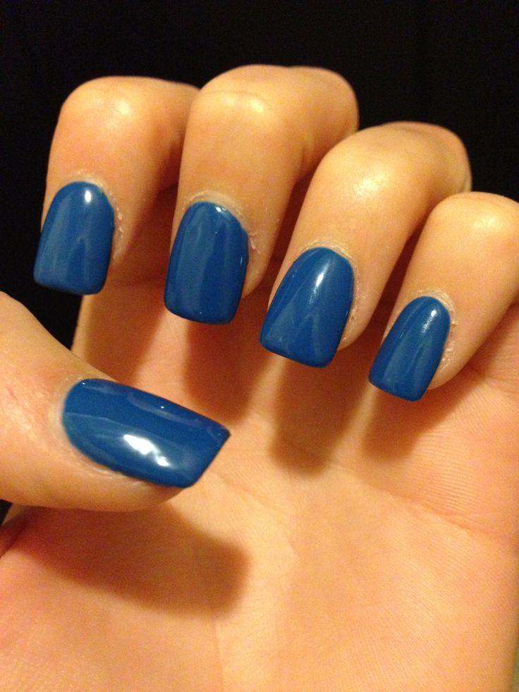 Nails #dark #blue #shellac | Fall | Pinterest