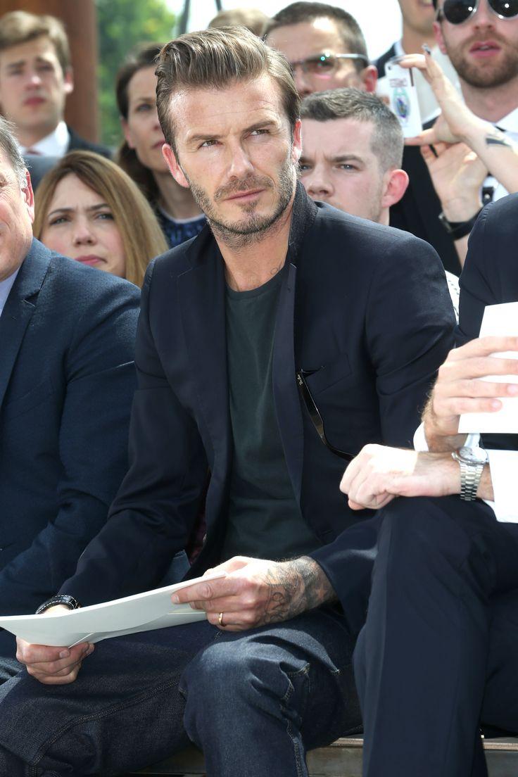 David Beckham at the Louis Vuitton Men's Spring/Summer 2014 Fashion Show. ©Louis Vuitton / Bertrand Rindoff