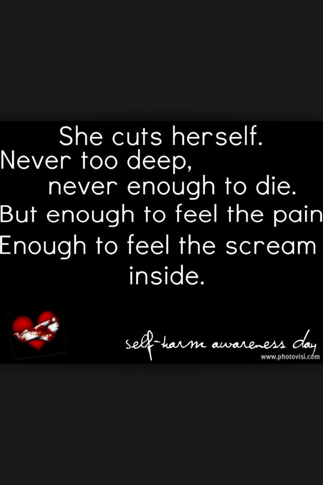 Self Harm Quotes And S...
