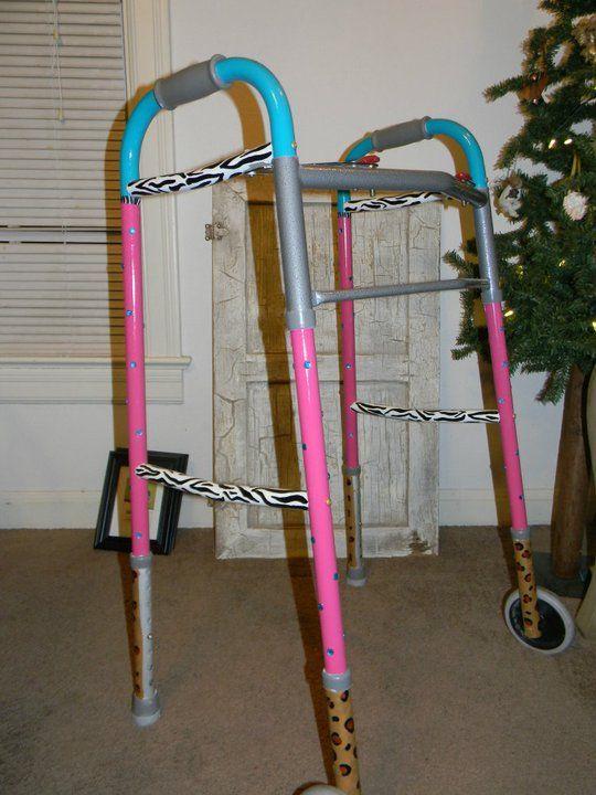 Pimp my walker!!   Painted furniture ideas   Pinterest