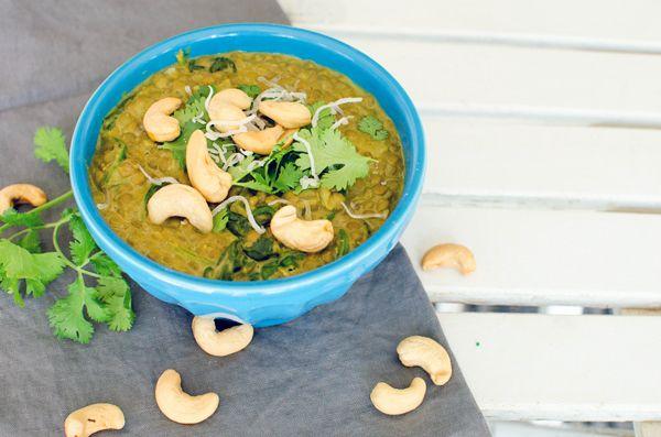 Spiced Lentil Soup with Coconut Milk & Cashews   Recipe