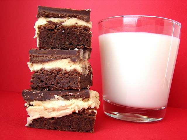 Peanut Butter Truffle Brownies -