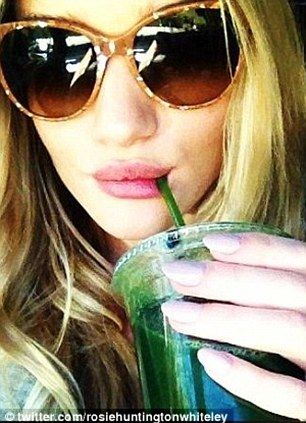 Drink your way to a supermodel physique! Victoria's Secret Angel Rosi ...