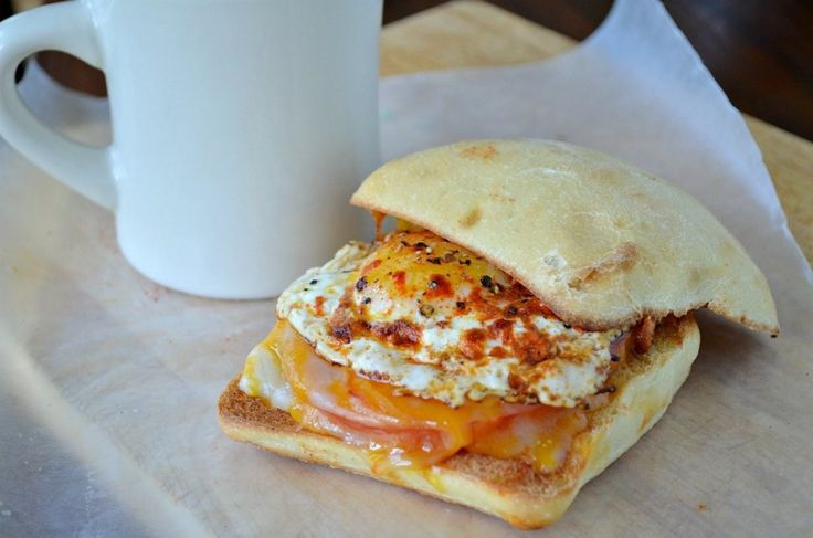 Breakfast Ciabatta with Pimenton Eggs, Tomatoes, and Cheddar - Three Many Cooks