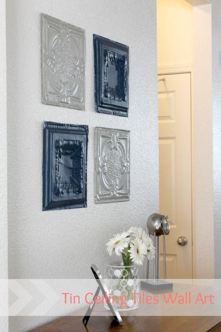 Tiles For Wall Decor : Tin ceiling tiles wall art