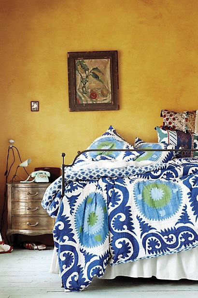 Dreamy bedroom via Anthropologie | Craft room ideas | Pinterest