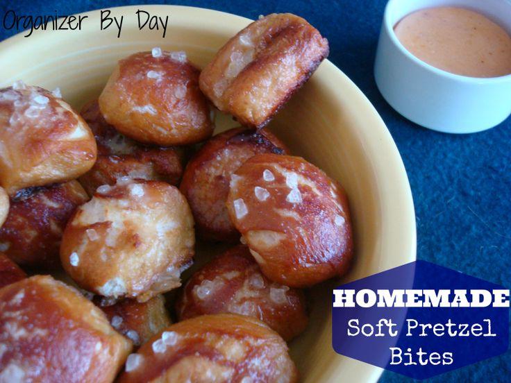 Homemade Soft Pretzel Bites on MyRecipeMagic.com