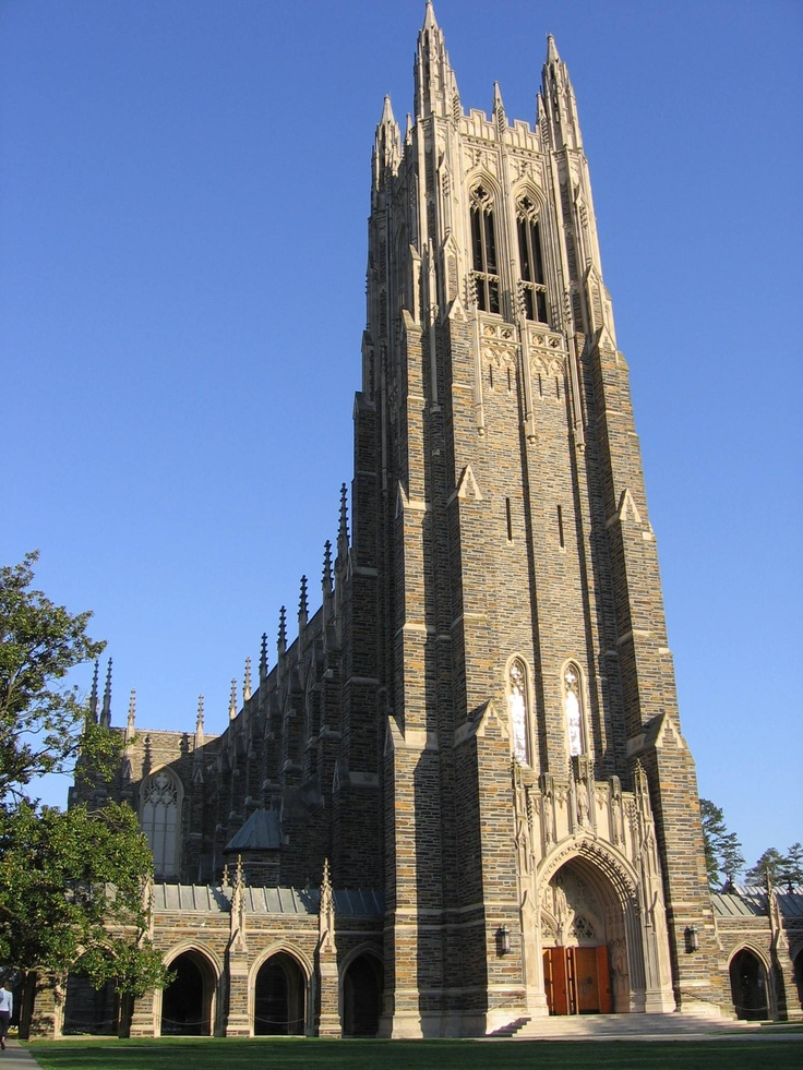 Duke University Blue Devils. Duke Chapel, a frequent icon for the university, can seat nearly 1,600 people and contains a 5,200-pipe organ.