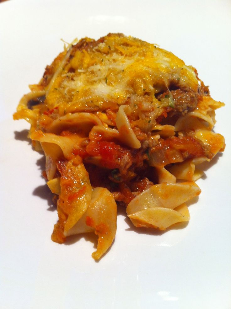 Johnny Marzetti Casserole - we used to have this at school!