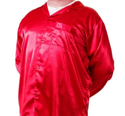Mens Red Satin Pajamas
