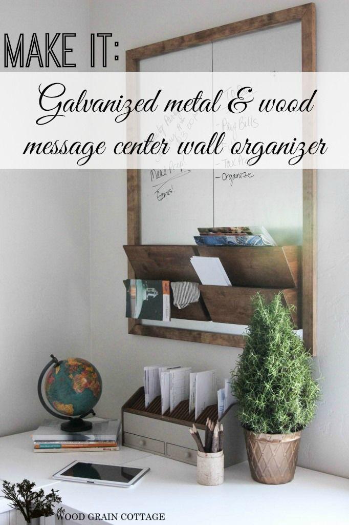 diy office wall organizer message center tutorial