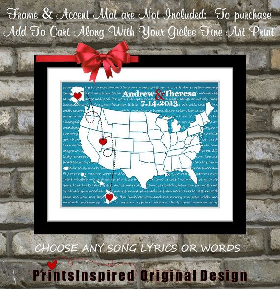 Personalized Wedding Gift: Engagement Anniversary Gift for Husband Wi ...