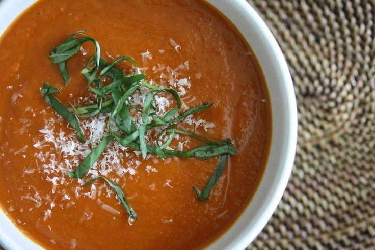 Slow Cooker Tomato Basil Soup | Dinner Recipes | Pinterest