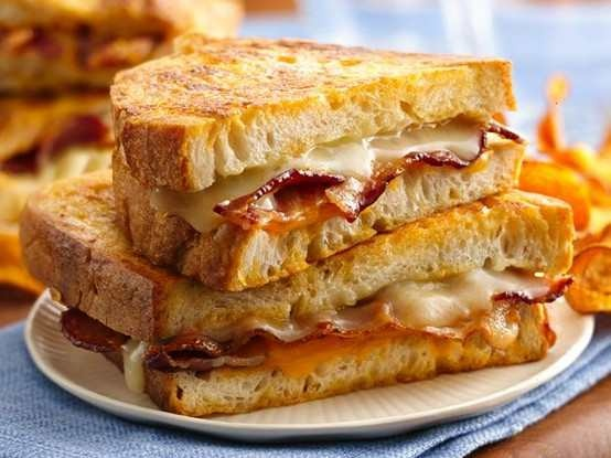 BEER BATTERED GRILLED CHEESE SANDWICH