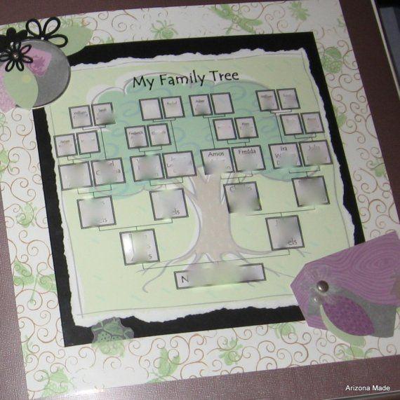 Family Tree Digital Template by ArizonaMade on Etsy, $4.99