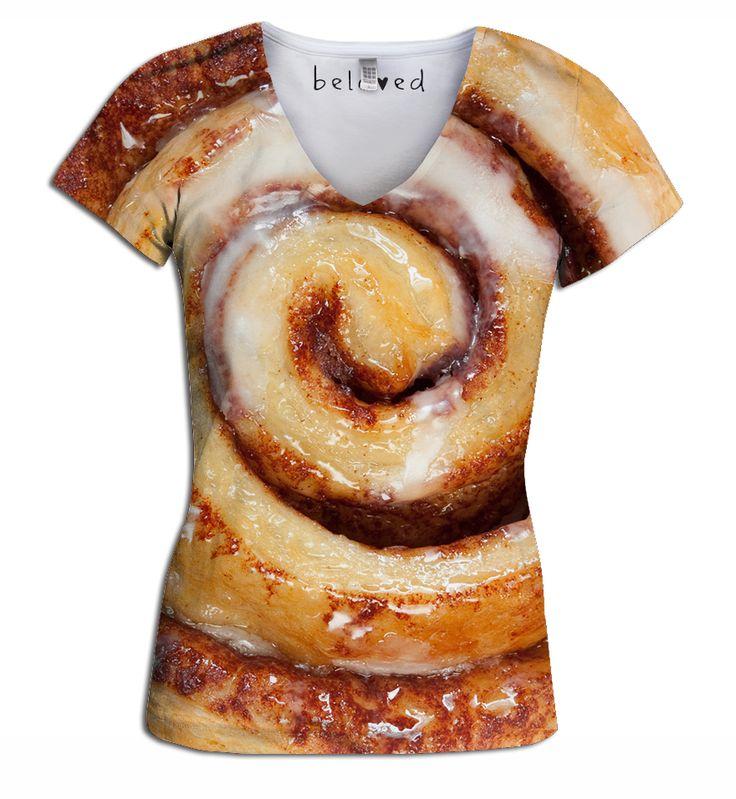 Cinnamon Roll Women's V-Neck Tee