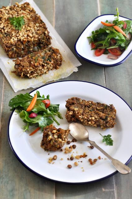 Anja's Food 4 Thought: Spiced Lentil Spinach Walnut Loaf