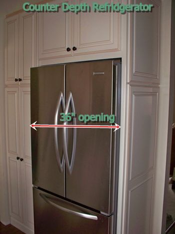 10790 moreover Haccp Temperature Charts further Galley Kitchen Design additionally Counter Depth Refrigerator Cabi additionally Recess Your French Door Fridge Into The Wall. on placement of refrigerator in kitchen