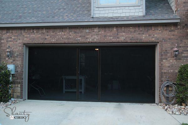 Garage screen door dream home pinterest - Single car garage door screen ...