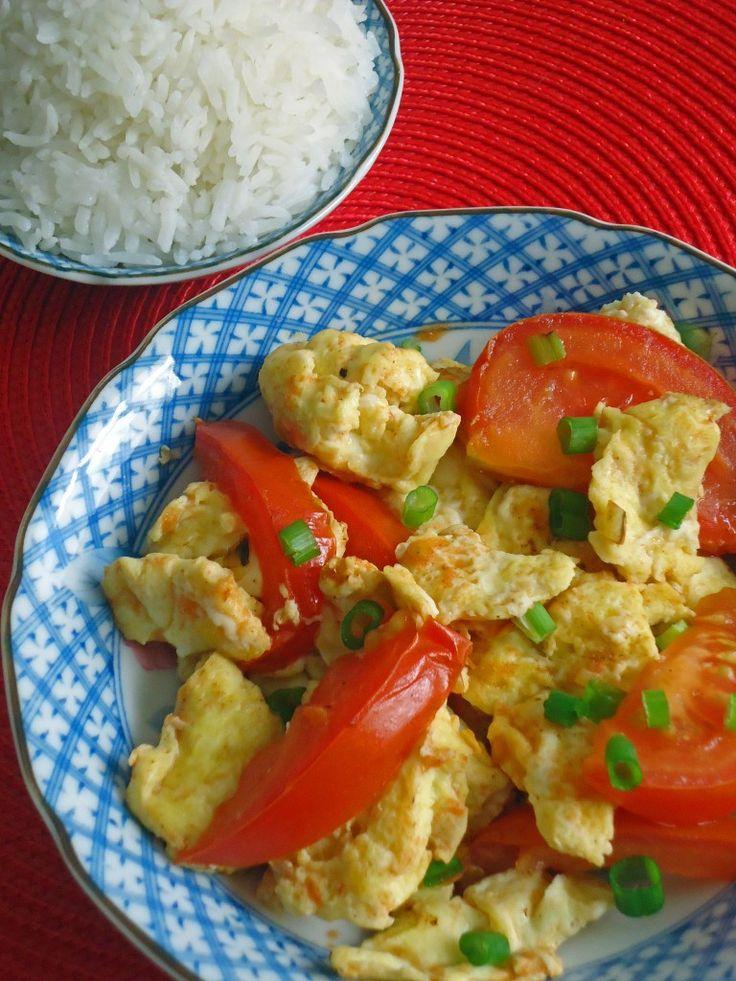 ... Chao Jidan (西红柿炒鸡蛋) - Chinese Stir-fried Tomato and Eggs