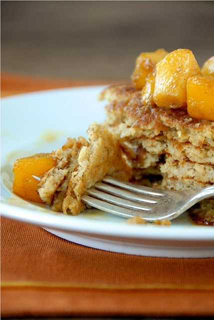Gluten Free Pancakes with Peach Compote | gluten free breakast | Pint ...