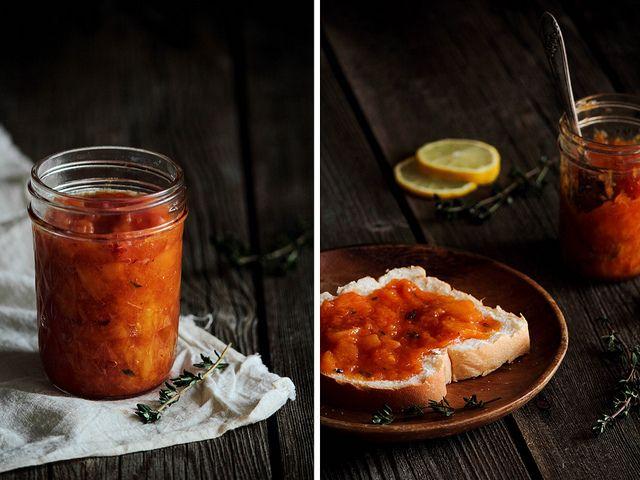 Peach Bourbon Thyme Jam by pastryaffair, via Flickr