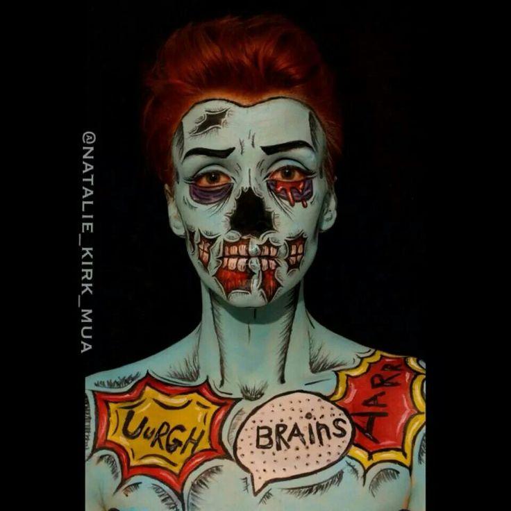 zombiesPop Art Zombie Makeup