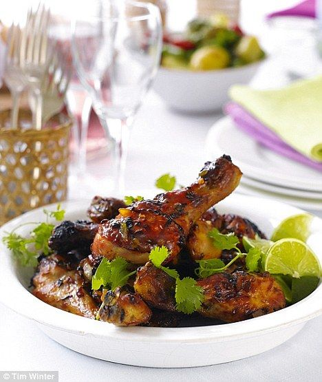 ... trying this with my leftover mango, coriander & chilli salsa tonight