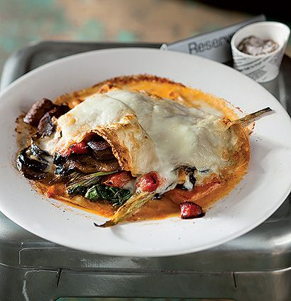 Winter vegetable open lasagne | noom noom | Pinterest