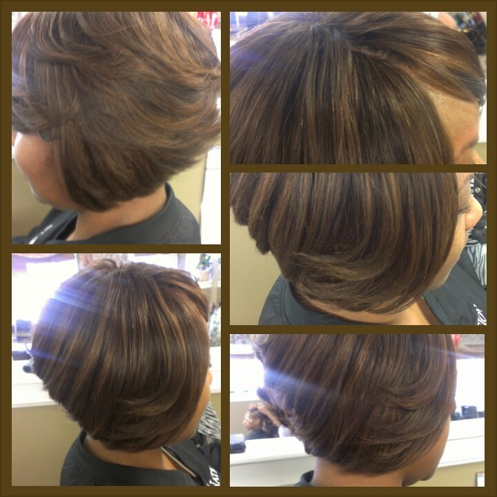 Sew In Bob Hairstyles Invisible Part Full sew in invisible part bob