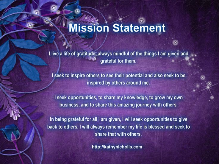 personal mission statements for nursing students Mission the mission of the stony brook school of nursing is to prepare nurse leaders at all entries of practice to advance the health of the people of new york, the.
