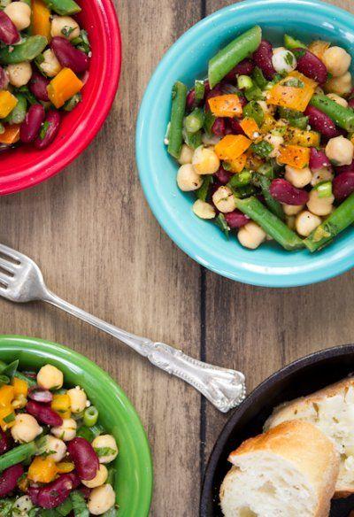 Speedy Three-Bean Salad by Oh She Glows | Something yummy | Pinterest