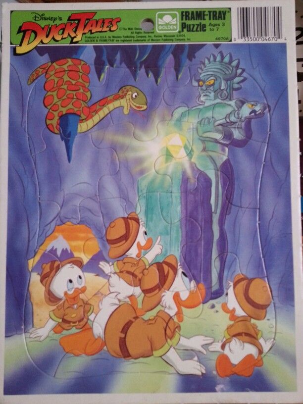 Ducktales quot frame tray jigsaw puzzle ducktales pinterest
