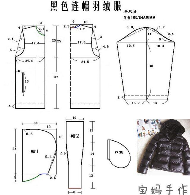Выкройка куртки демисезонные