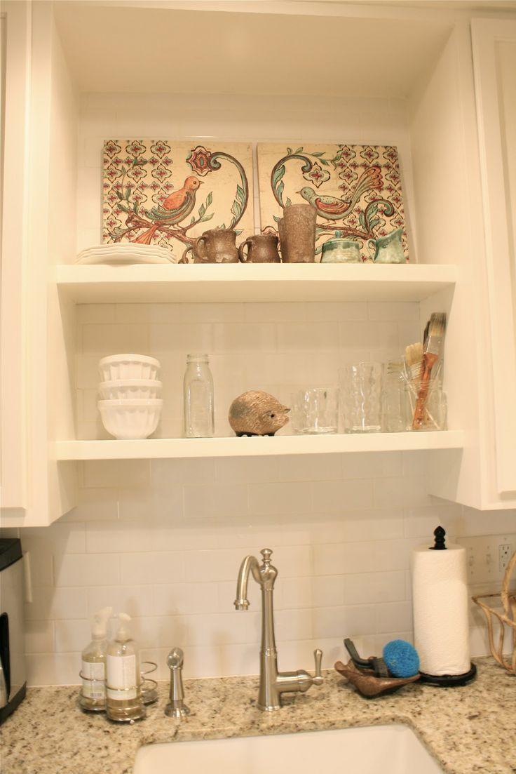 Shelves Above The Sink Kitchen Pinterest