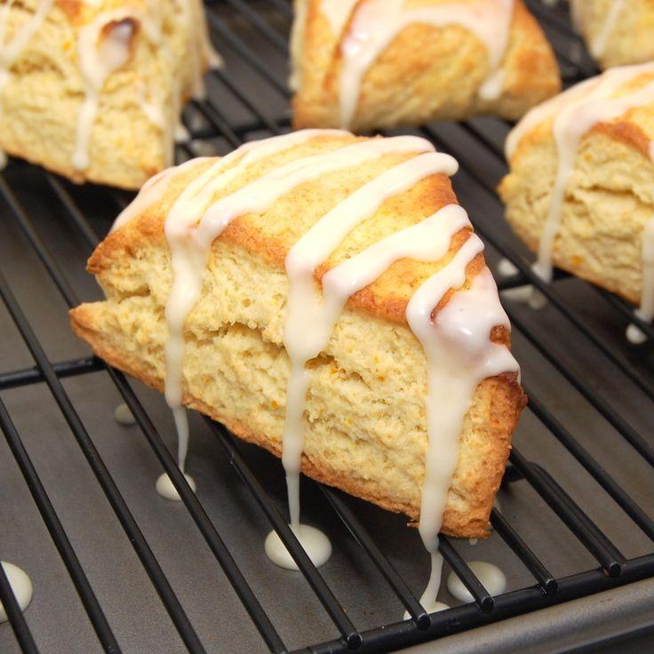 Sweet Pea's Kitchen » Orange Scones with Coconut Orange Glaze