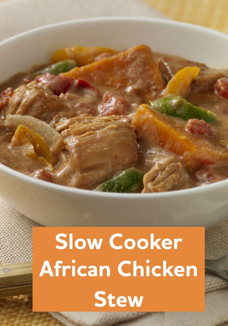 This Slow Cooker African Chicken Stew has a secret ingredient. You ...